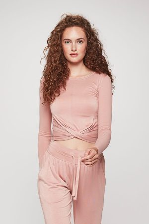Carite Cover Up Crop Top Misty Rose