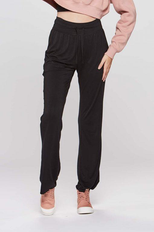 Carite High Waist Pants Sort